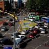 韩国首尔出租车司机总罢工
