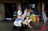 天津洪水 灾民离难