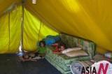 在伊拉克帐篷中躲避战乱的叙利亚难民