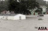 路易斯安那暴雨中的艰难跋涉