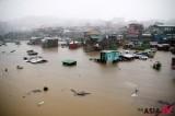 浸没在水中的菲律宾都市