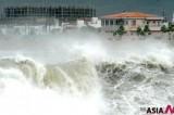 台风冲击下冲绳