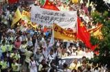 """香港5000人游行抗议""""日本侵我领土"""""""