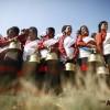 尼泊尔斯卡里节日上的传统服装