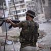 叙利亚军火库中执勤的士兵